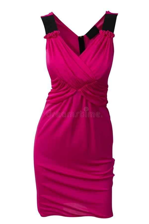 Purpurowa jedwab suknia obrazy stock