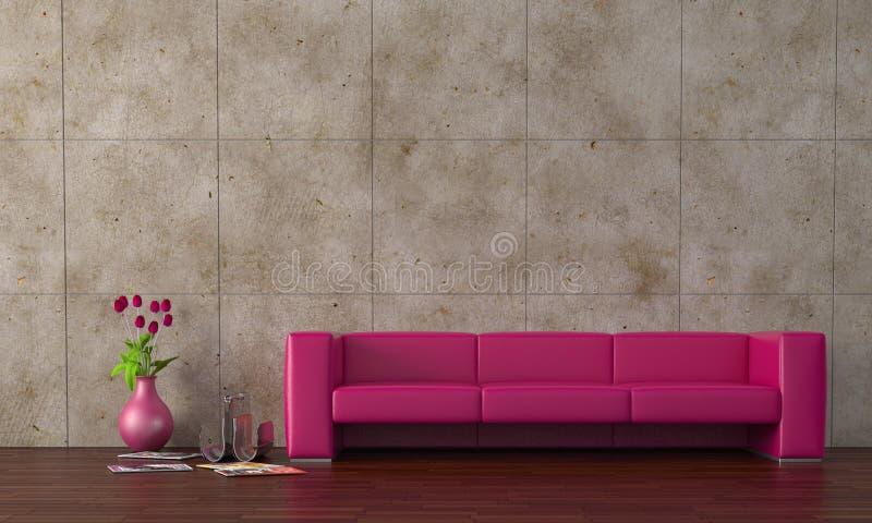 purpurowa kanapa zdjęcia stock