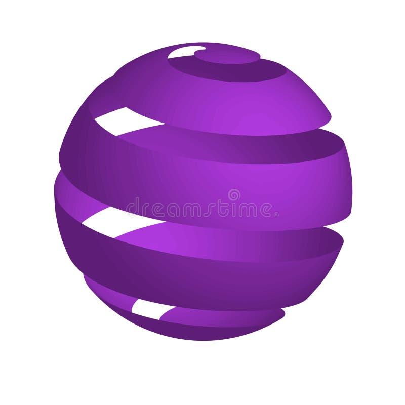 purpurowa sfera zdjęcie stock