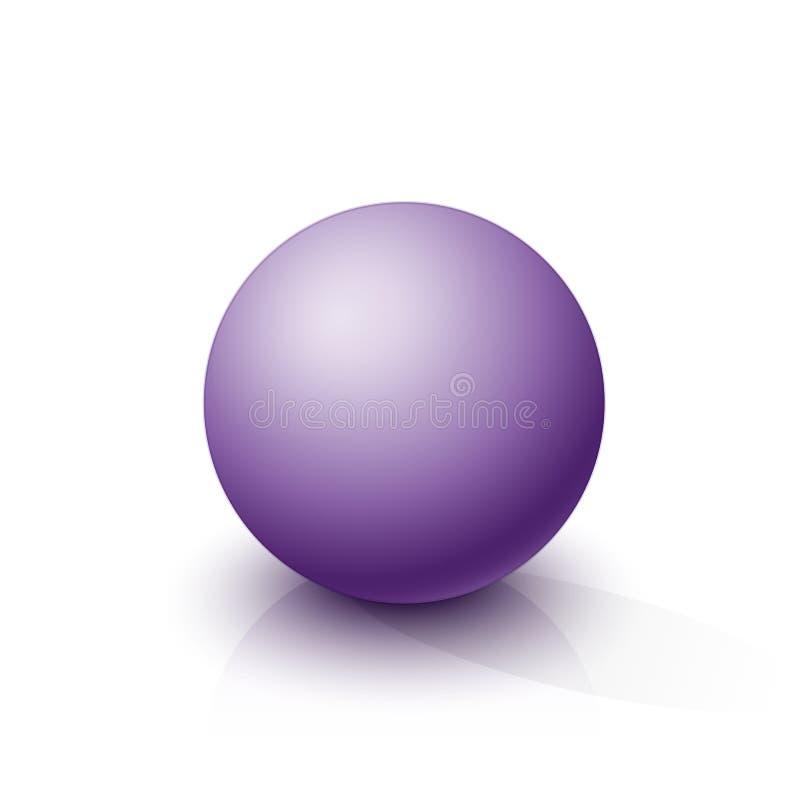 Purpurowa sfera na białym tle ilustracja wektor