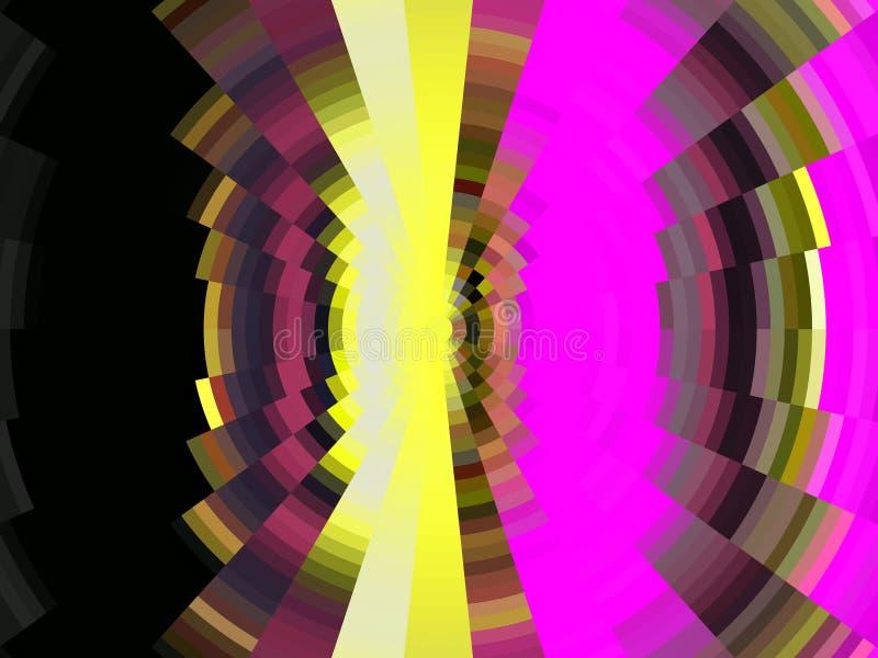 Purpurowego żółtego złota czerni kółkowe linie, tło, grafika, abstrakcjonistyczny tło i tekstura, ilustracji