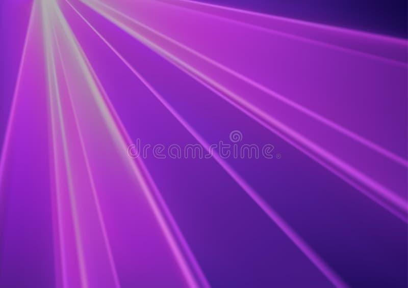 Purpurowego dyskoteki światła Laserowy skutek royalty ilustracja