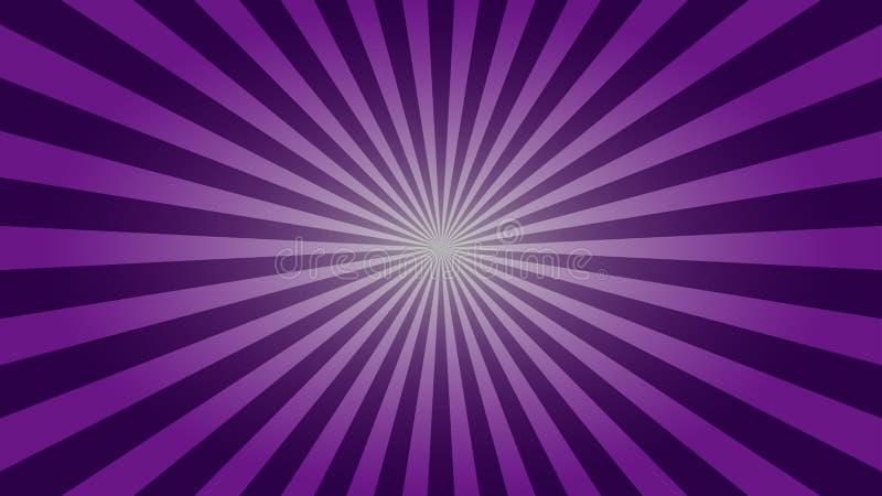 Purpurowego sunburst desktop tapetowy projekt ilustracja wektor