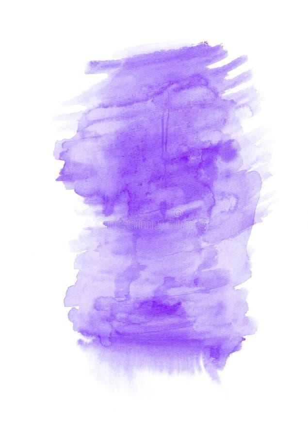 Purpurowego watercolour pionowo gradientowy tło malujący na specjalnym akwarela papierze Dobry postanowienie ilustracja wektor