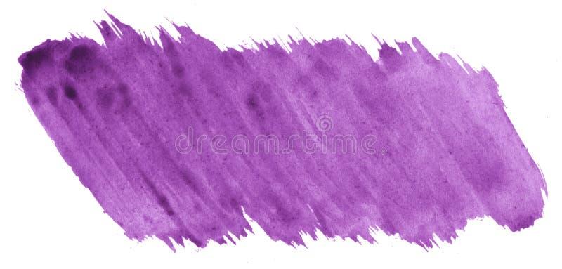 Purpurowej akwareli abstrakcjonistyczny tło, plama, pluśnięcie farba, plama, rozwód Roczników obrazy dla projekta i dekoracji royalty ilustracja