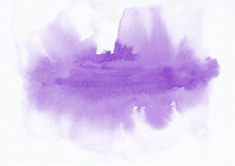 Purpurowej akwareli horyzontalny gradientowy tło Ja ` s pożytecznie dla kartka z pozdrowieniami, valentines, listy Abstrakcjonist ilustracja wektor