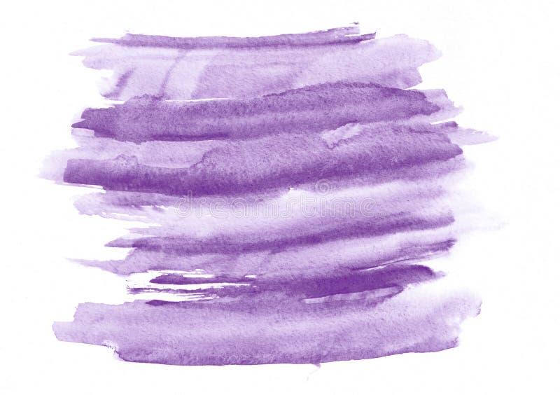 Purpurowi akwarela gradientu muśnięcia uderzenia Piękny abstrakcjonistyczny tło dla projektantów, Ups, zaproszenia, pocztówki ilustracji