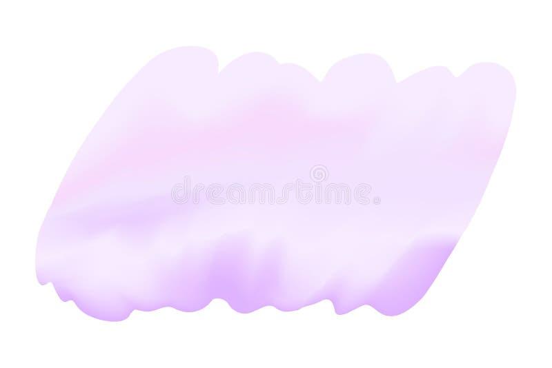 Purpurowi cyfrowi farb brushs w pojęcie wodnego koloru ręka rysującej stylowej teksturze na białym tle, sztuka wodnego koloru pur ilustracja wektor
