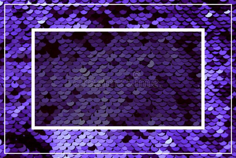 Purpurowi mruganie cekiny Przestrzeń dla teksta Błyszcząca iskrzasta tekstura dla disigners łuna fotografia royalty free
