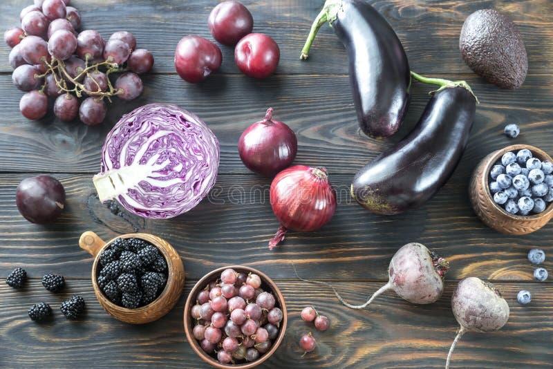 Purpurowi owoc i warzywo zdjęcia royalty free