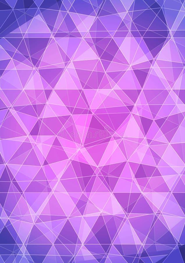 Purpurowy Abstrakcjonistyczny diamentu wzoru trójboka tło royalty ilustracja