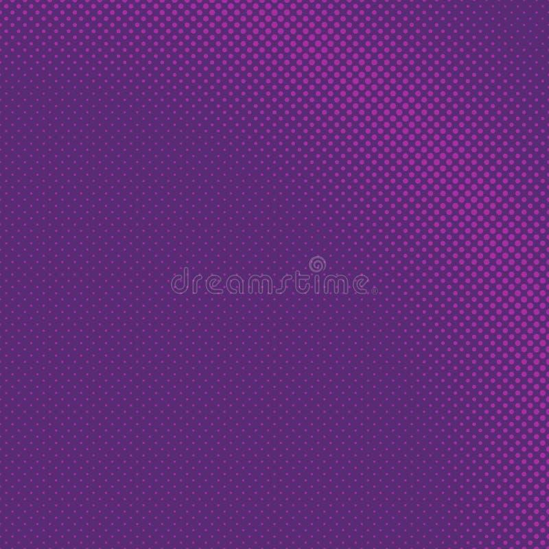 Purpurowy abstrakcjonistyczny geometryczny halftone okręgu wzoru tło royalty ilustracja