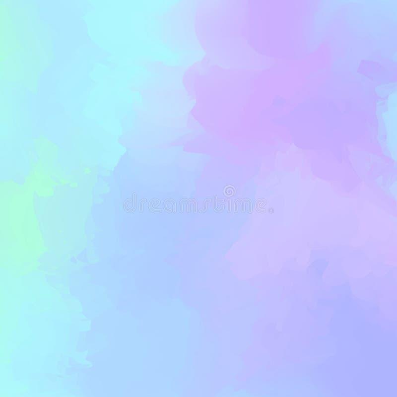 Purpurowy abstrakcjonistyczny kolorowy mieszany dla tła, akwareli plamy maluje dla karcianej sztandar reklamy, sztuka obraz barwi royalty ilustracja