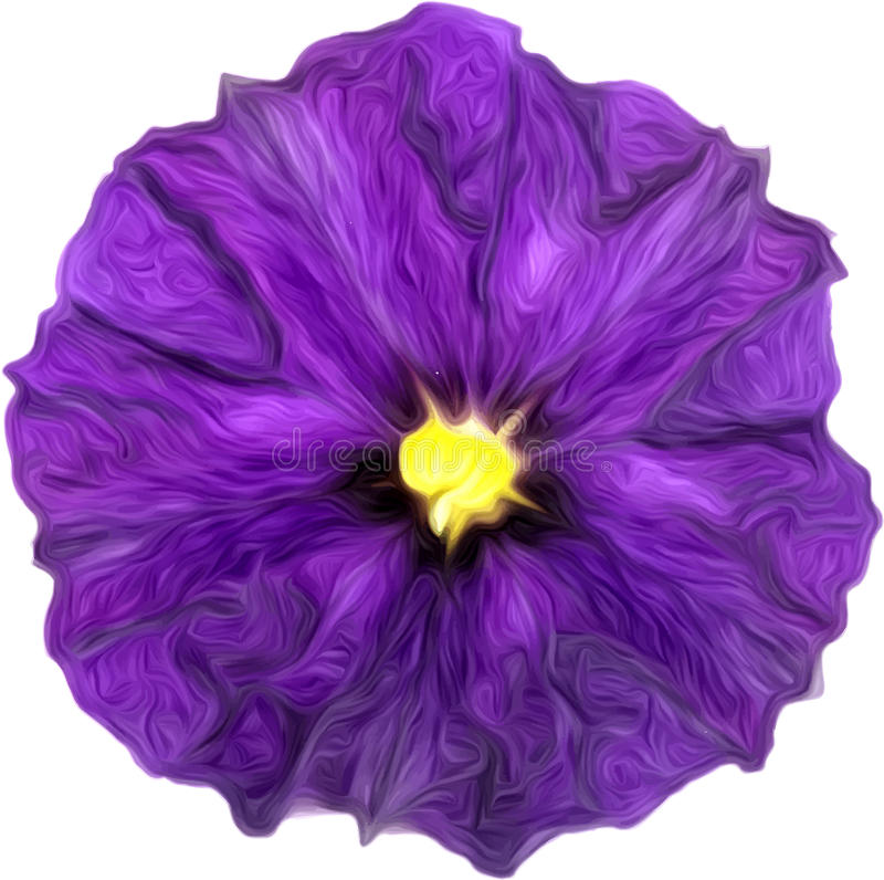 Purpurowy akwarela obraz purpura kwiat royalty ilustracja