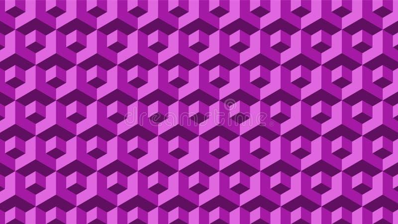 Purpurowy Bezszwowy Geometryczny bloku wzór zdjęcia stock