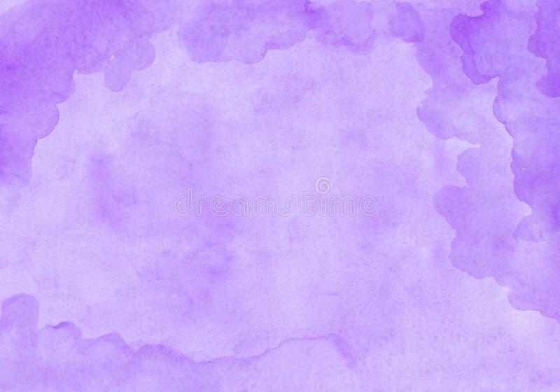 Purpurowy chmurny prostokątny akwarela gradientu tło Piękna abstrakcjonistyczna kanwa dla gratulacj, valentines ilustracja wektor