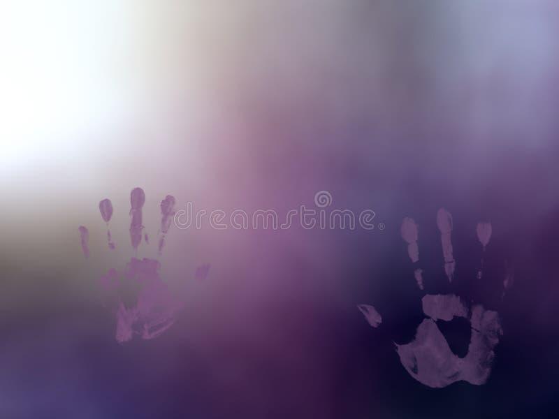 Purpurowy fiołkowy popielatego bielu mgłowy abstrakt zamazywał tło obrazy royalty free