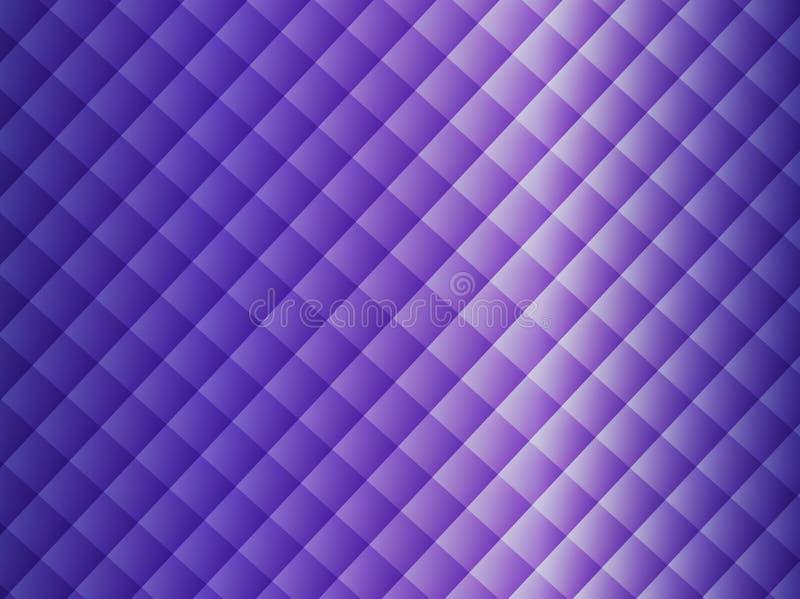 Purpurowy geometryczny kształta wzoru rhombus tło ilustracja wektor