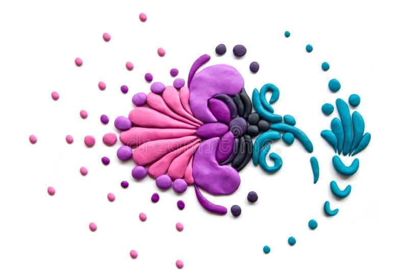 Purpurowy glina wzór fioletowy kwiat zdjęcia stock