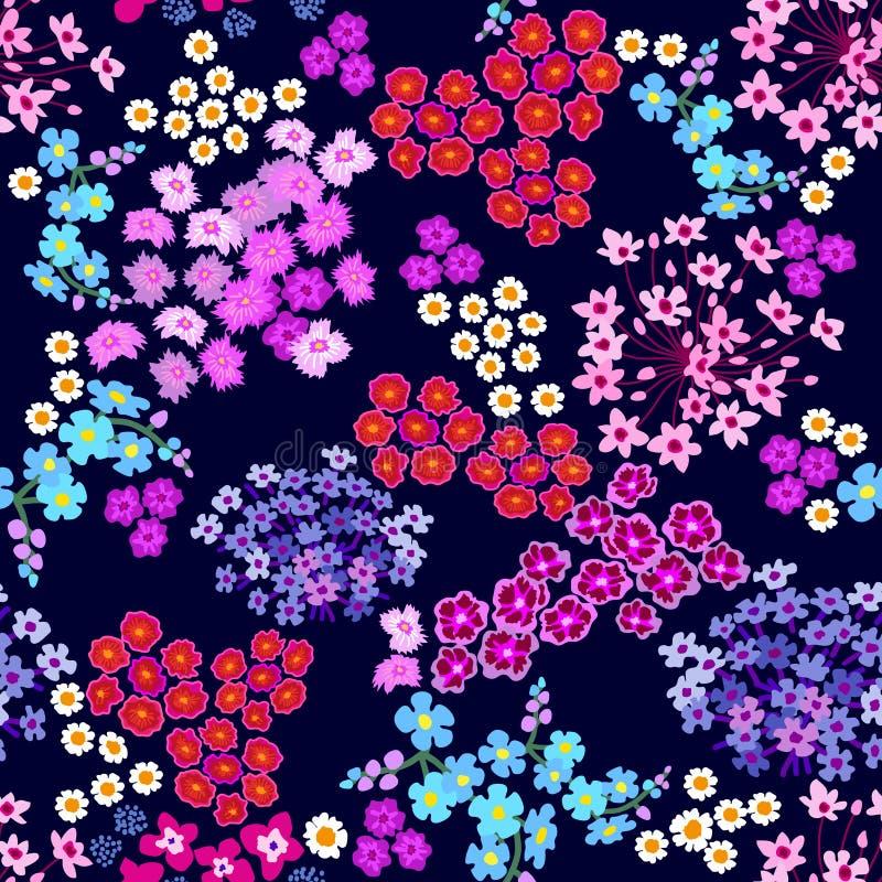 Purpurowy goździka ogród royalty ilustracja