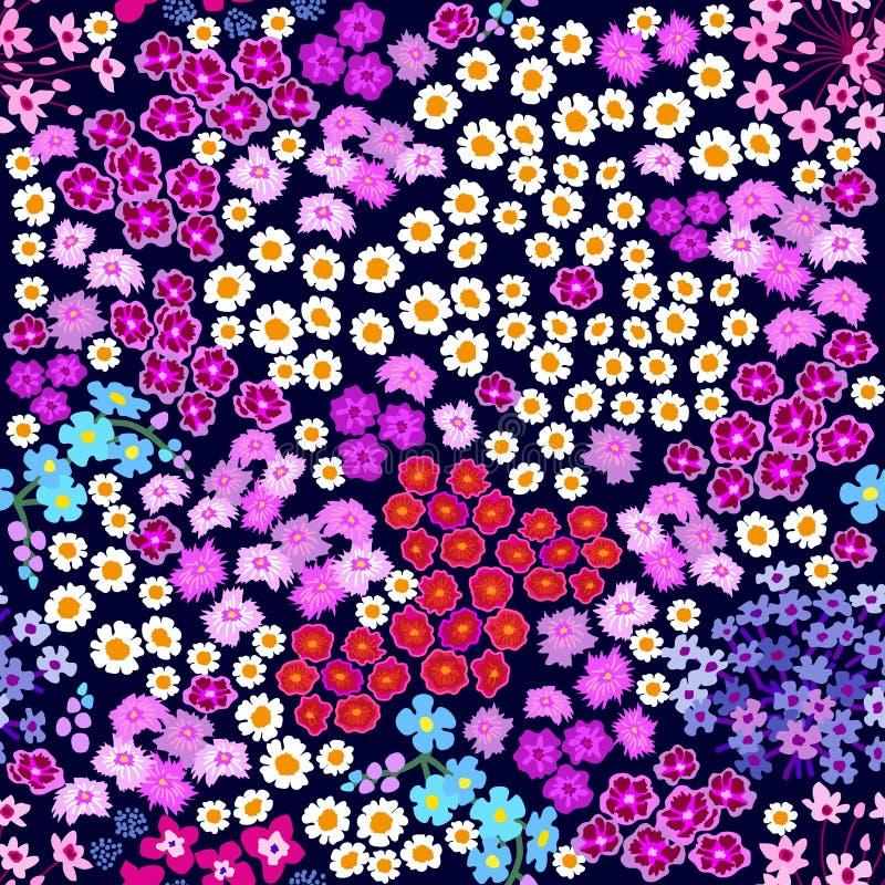 Purpurowy goździka ogród ilustracji