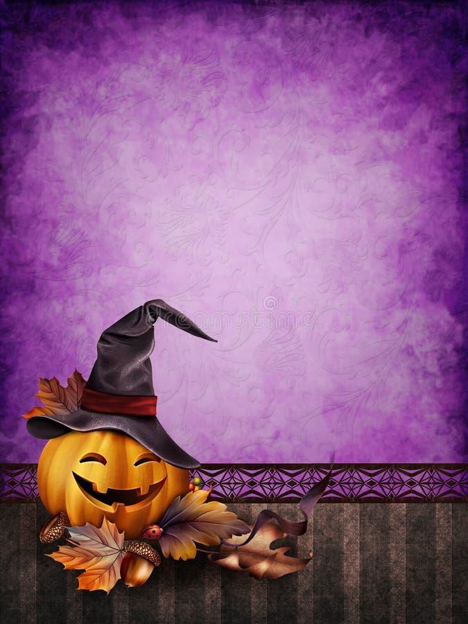 Purpurowy Halloweenowy tło ilustracja wektor