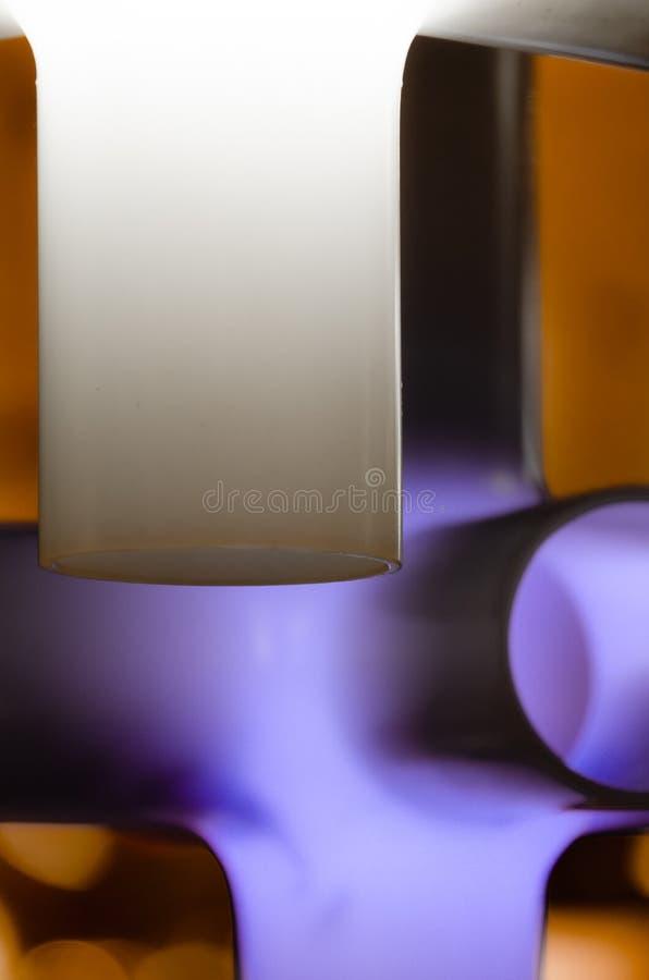Purpurowy i biały abstrakt obrazy stock