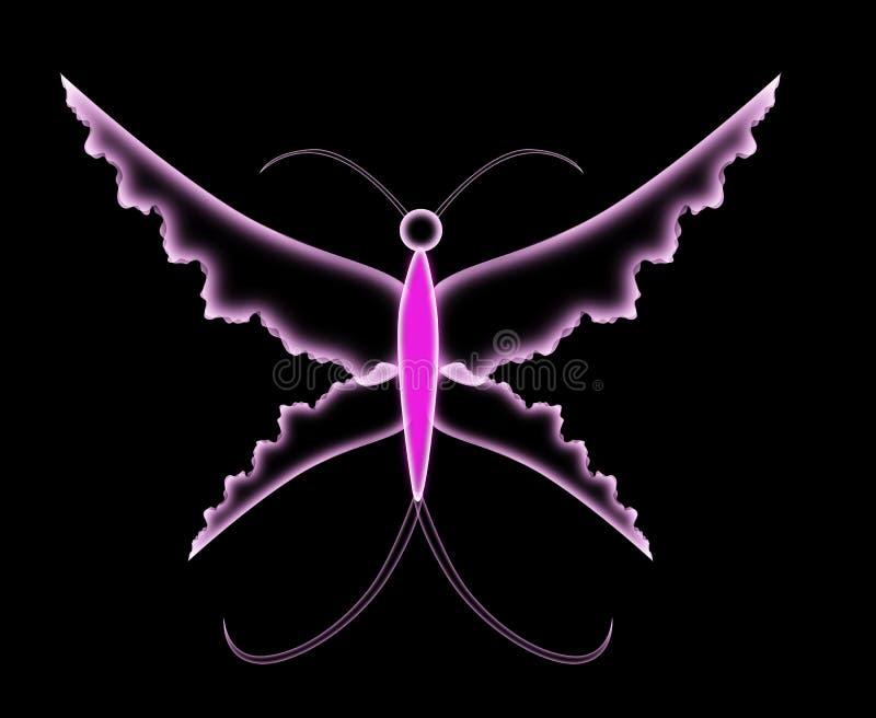 Purpurowy motyl royalty ilustracja