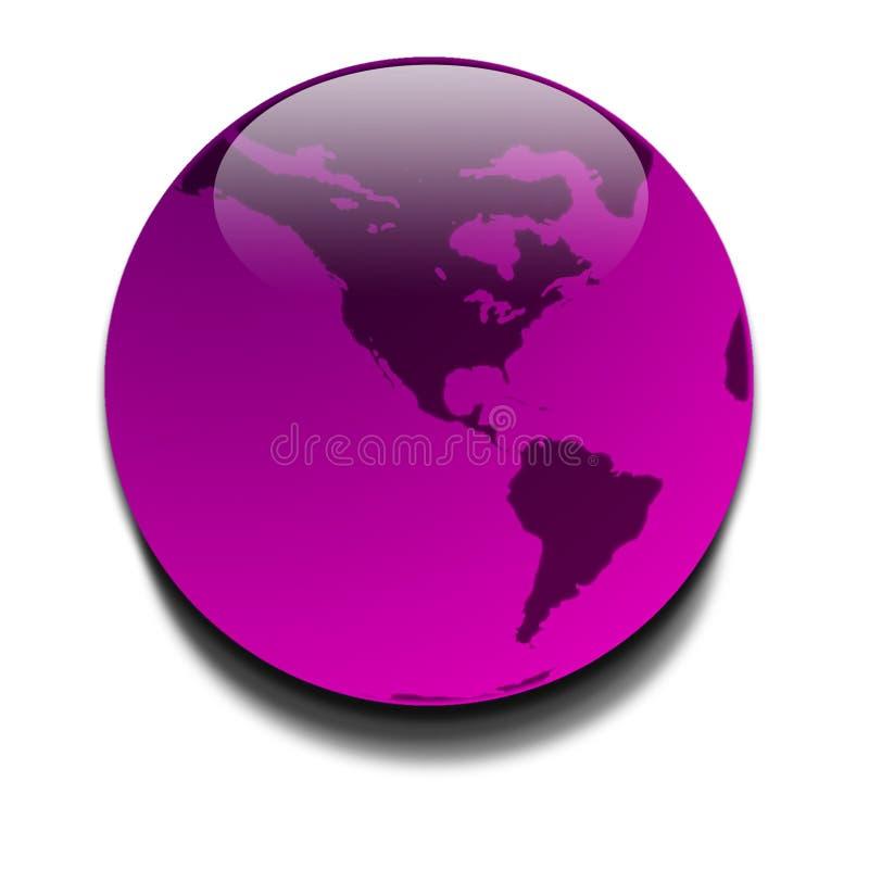 purpurowy planet ilustracji