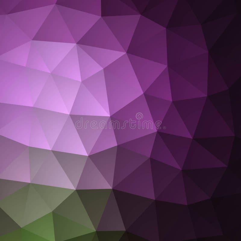 Purpurowy Poligonalny t?o Kolorowa ilustracja w abstrakta stylu z gradientem Szablon może używać jako tło dla ilustracji