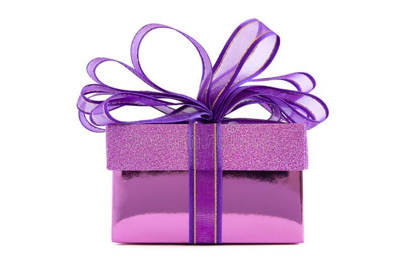 Purpurowy prezenta pudełko fotografia royalty free