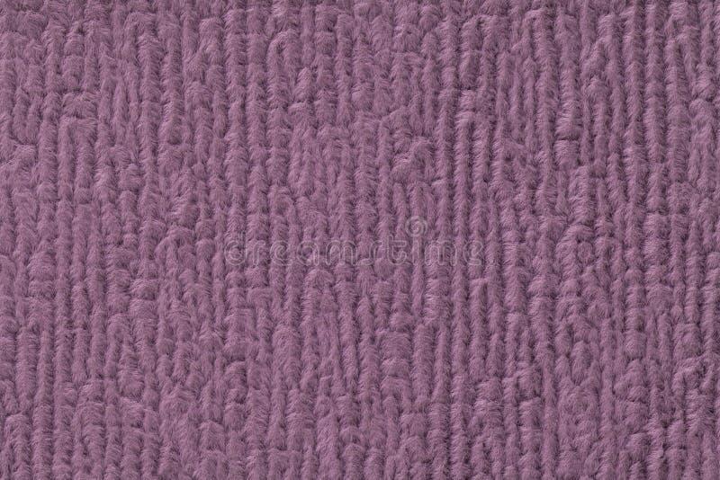 Purpurowy puszysty tło miękka część, wełnisty płótno Tekstura tekstylny zbliżenie obraz royalty free