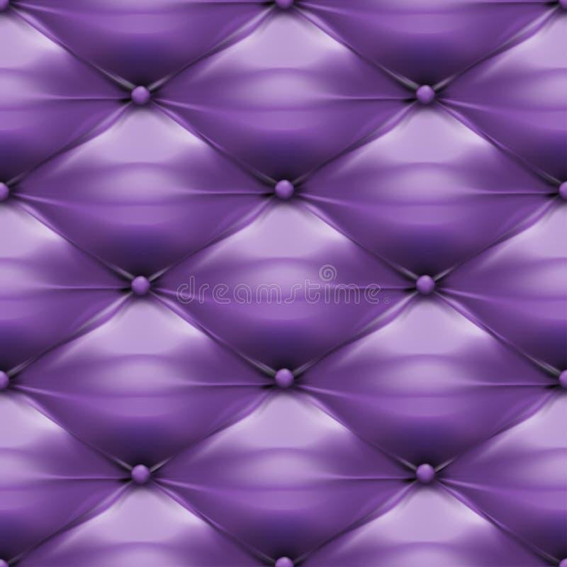 Purpurowy tapicerowanie skóry wzoru tło royalty ilustracja