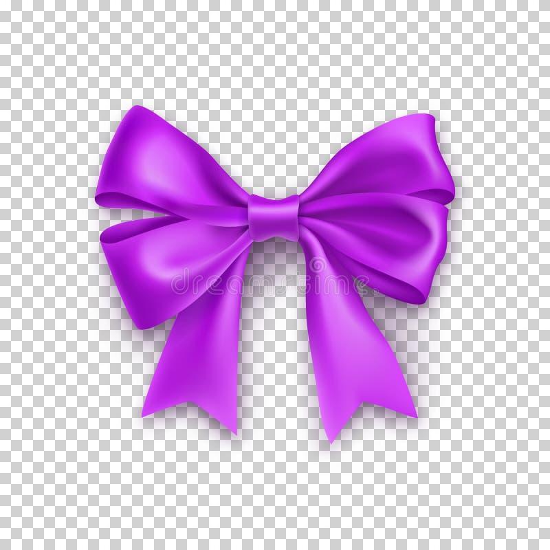 Purpurowy tasiemkowy łęk odizolowywający na bielu ilustracji