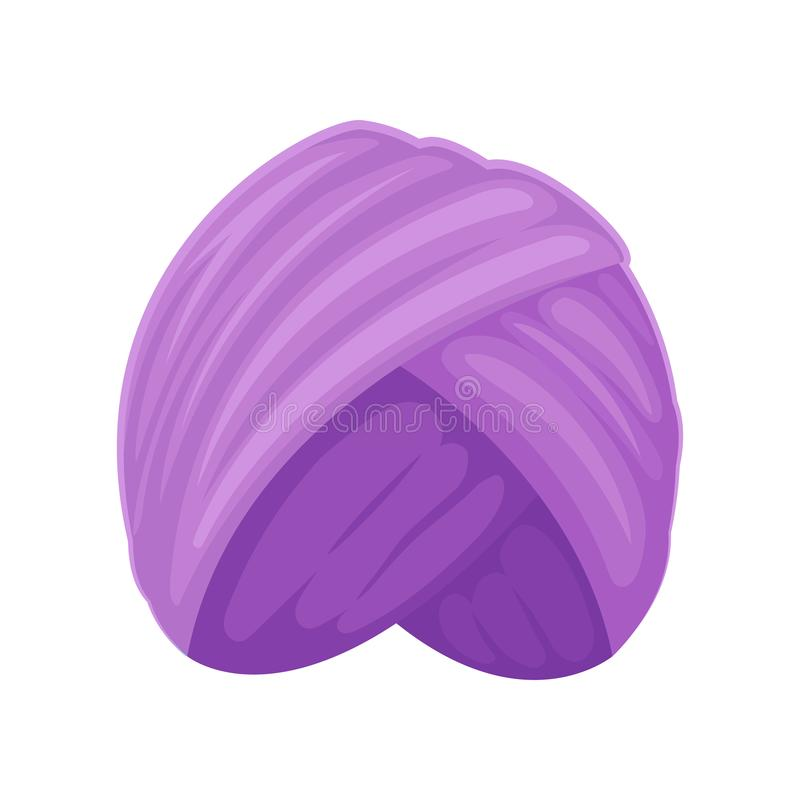 purpurowy turban t?a ilustracyjny rekinu wektoru biel ilustracja wektor