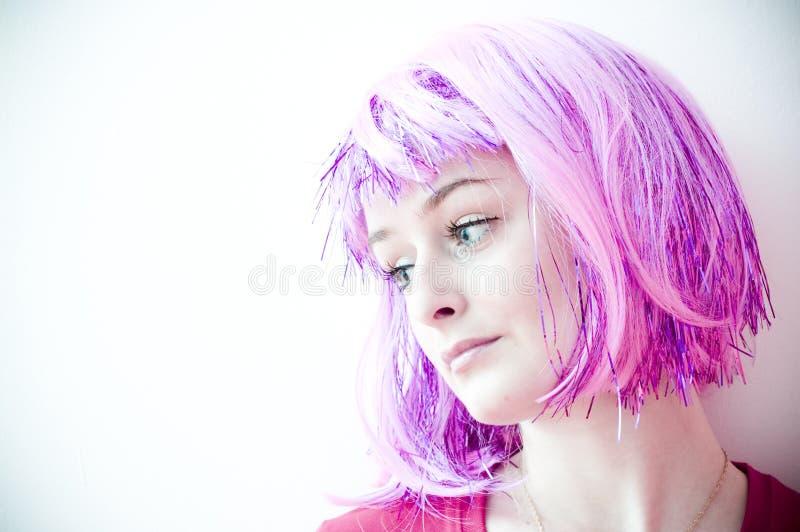 purpurowy włosów zdjęcia stock