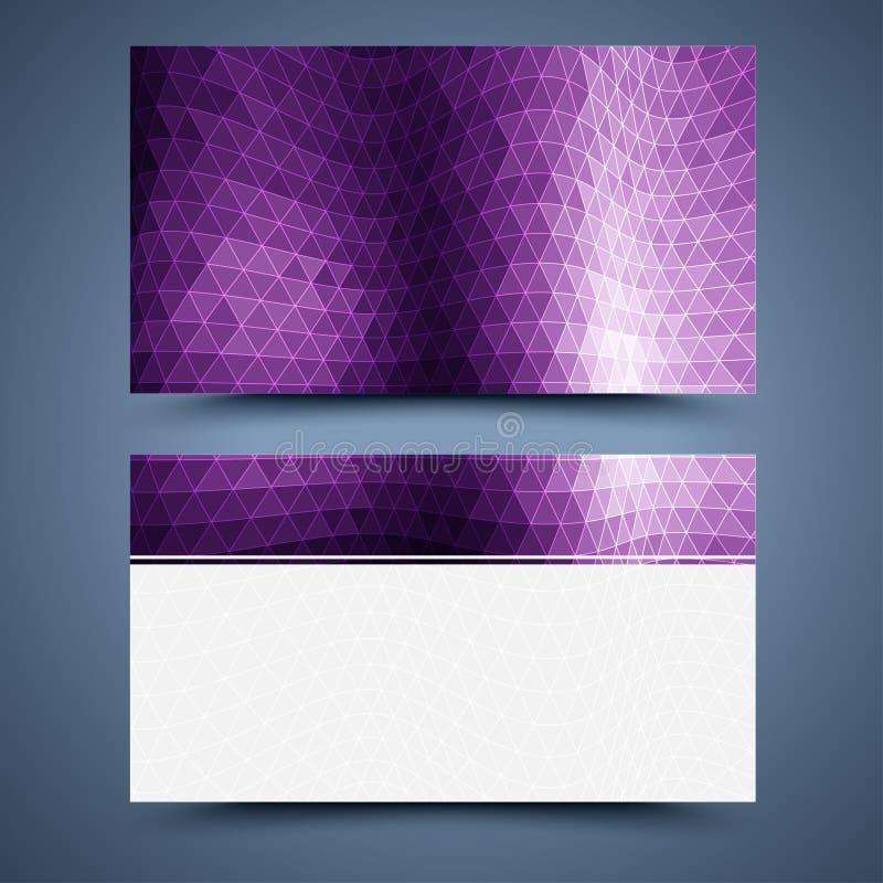 Purpurowy wizytówka szablon ilustracja wektor