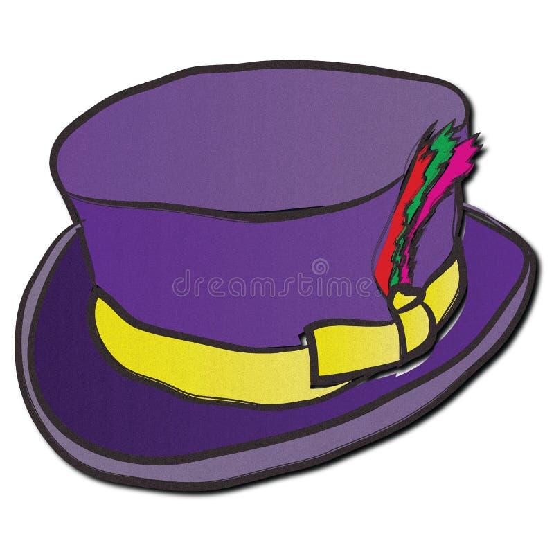 Purpurowy Wspaniały kapelusz royalty ilustracja
