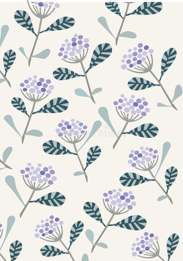 Purpurowy złożony kwiatu wzór royalty ilustracja