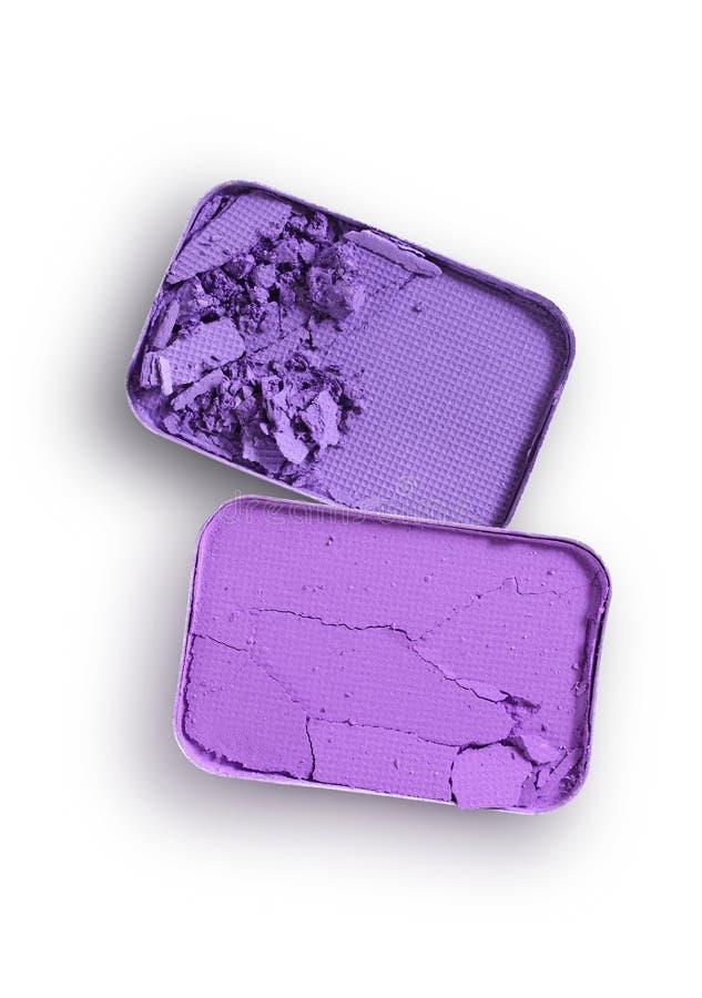 Purpurowy zdruzgotany eyeshadow dla uzupełniał jak próbka kosmetyczny produkt zdjęcia royalty free