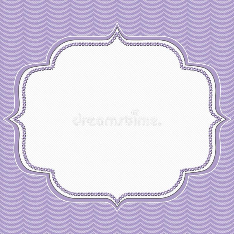 Purpurowych Falistych lampasów Ramowy tło ilustracja wektor