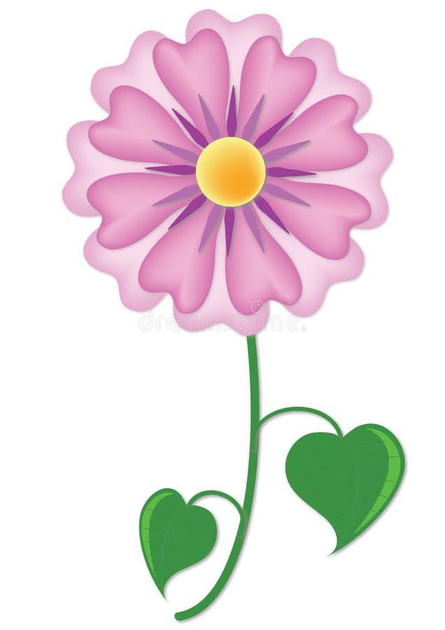 Purpurrote Blume des Sigels vektor abbildung