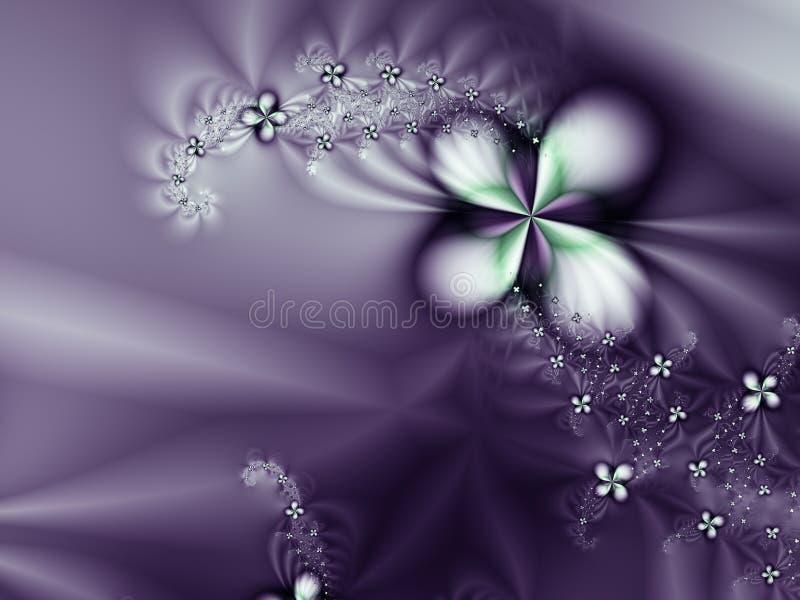 Purpurrote Blume und Diamanten romantischer Hintergrund vektor abbildung