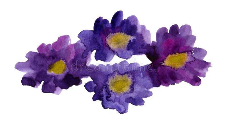Download Purpurrote Blumen stock abbildung. Illustration von hintergrund - 27725328