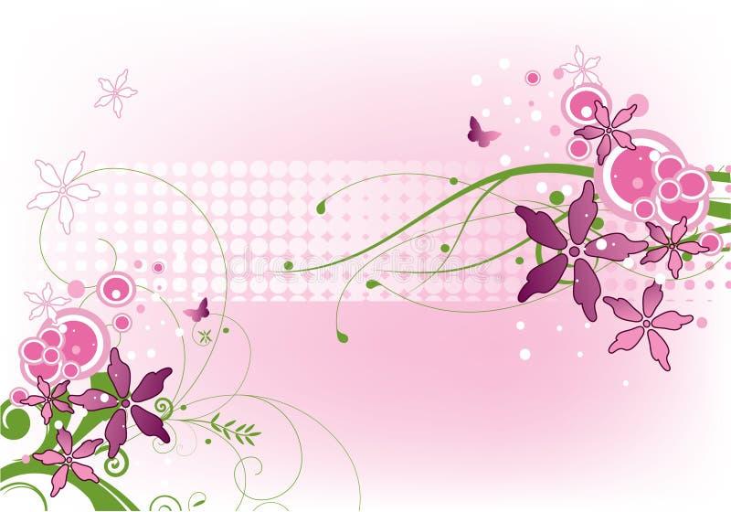 Purpurrote Blumen stock abbildung