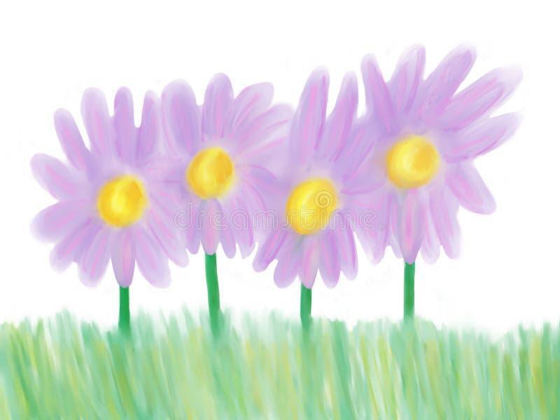 Purpurrote Blumen vektor abbildung