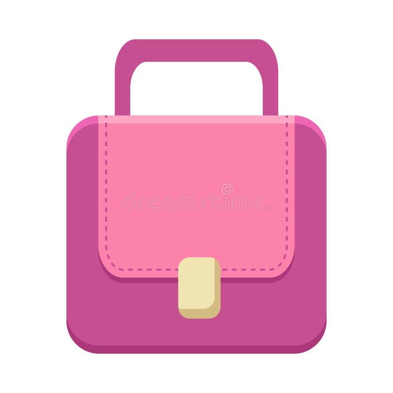 Purpurrote Damen-Handtasche lizenzfreie abbildung