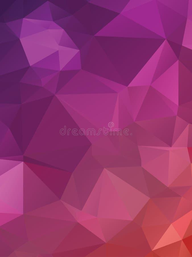 Purpurrote Dreiecke vektor abbildung