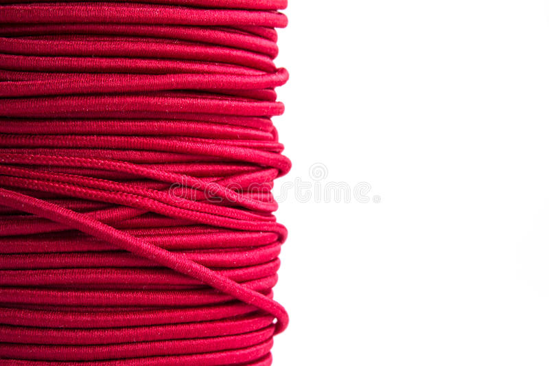 Purpurrote elastische Schnur stockfotografie