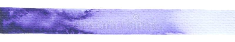 Purpurrote Farbenbeschaffenheit des Vektors lokalisiert auf horizontaler Fahne des weiß- Aquarells für Ihren Entwurf lizenzfreie stockbilder